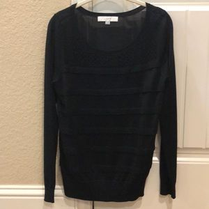 Ann Taylor Loft Linen Blend Crew Neck Sweater